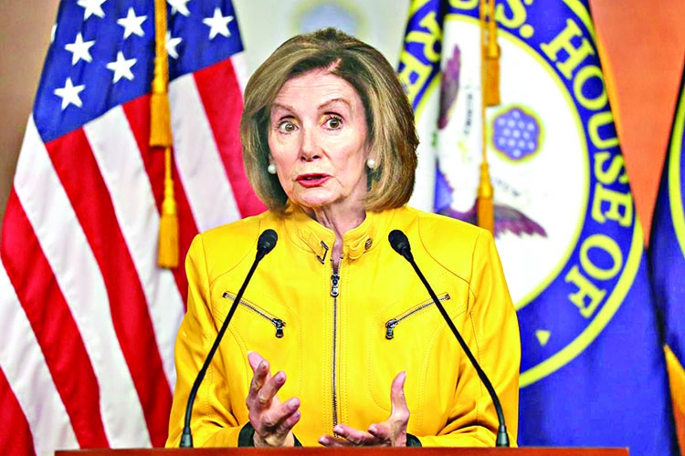 Democrats huddle ahead of transfer of Trump impeachment