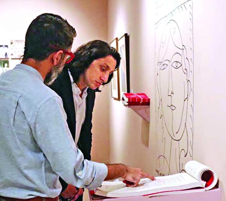 Radwan Mujib makes surprise visit to Dhaka Art Summit