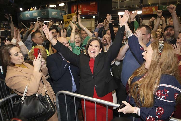 Irish election produces an  earthquake as Sinn tops poll