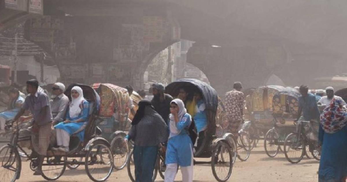 Sensitive groups may experience serious health effects in Dhaka's air: AQI