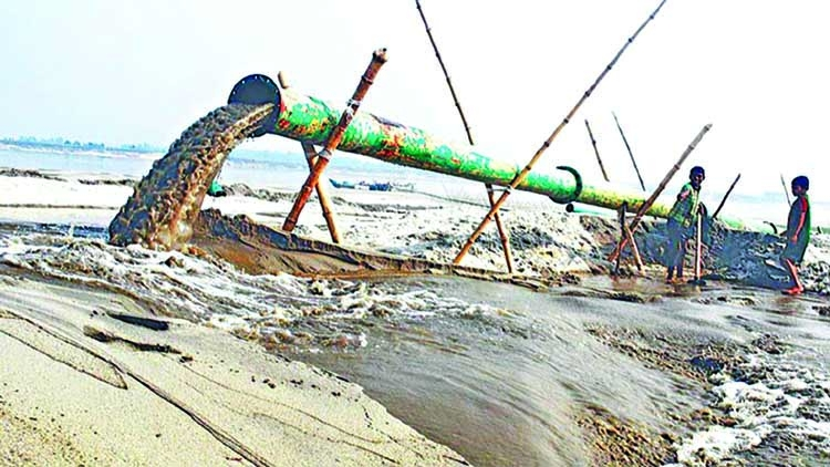 Illegal sand lifting poses threat in Chattogram
