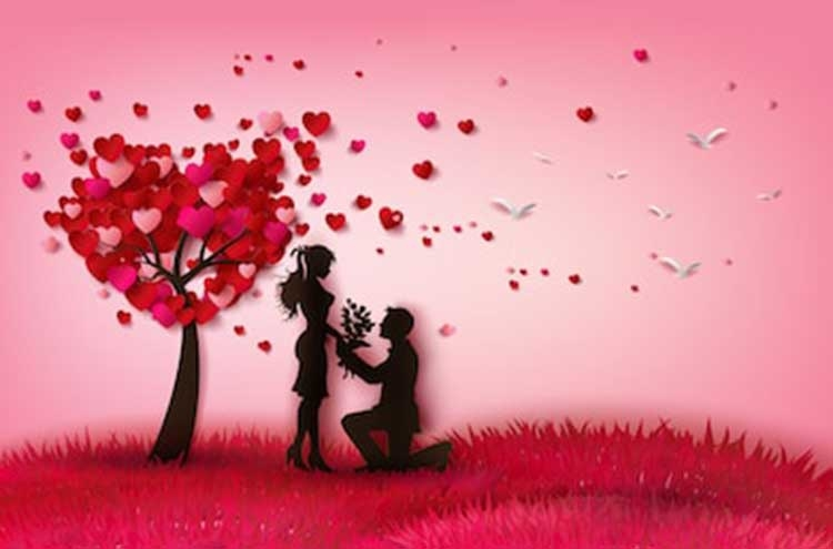 Love rises in melody