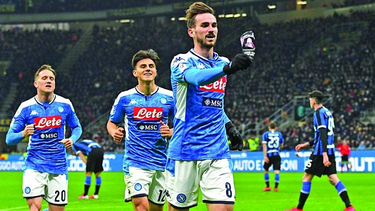 Ruiz cracker gives Napoli 1-0 Cup win at Inter