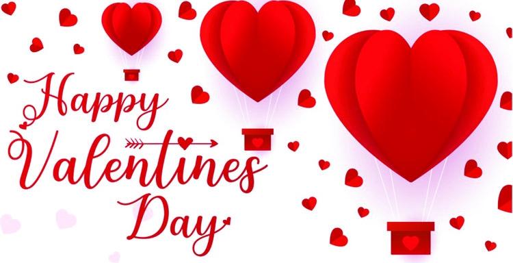 People celebrate Valentine's Day today