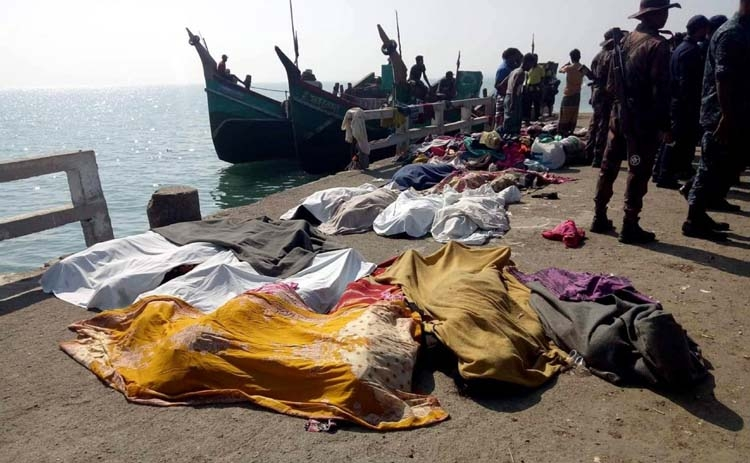 Sinking glory: Rohingya boat capsized in the Bay of Bengal