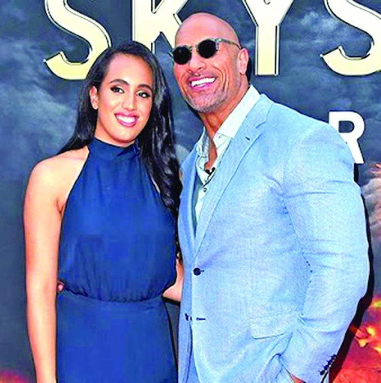 The Rock's daughter will step into the ring