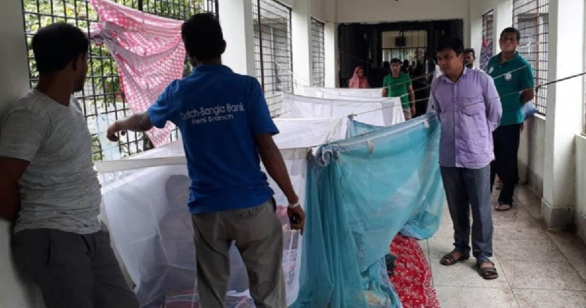 2 dengue patients hospitalized in 24 hrs