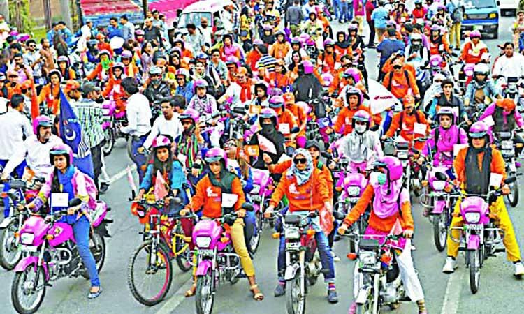 Women bikers and empowerment