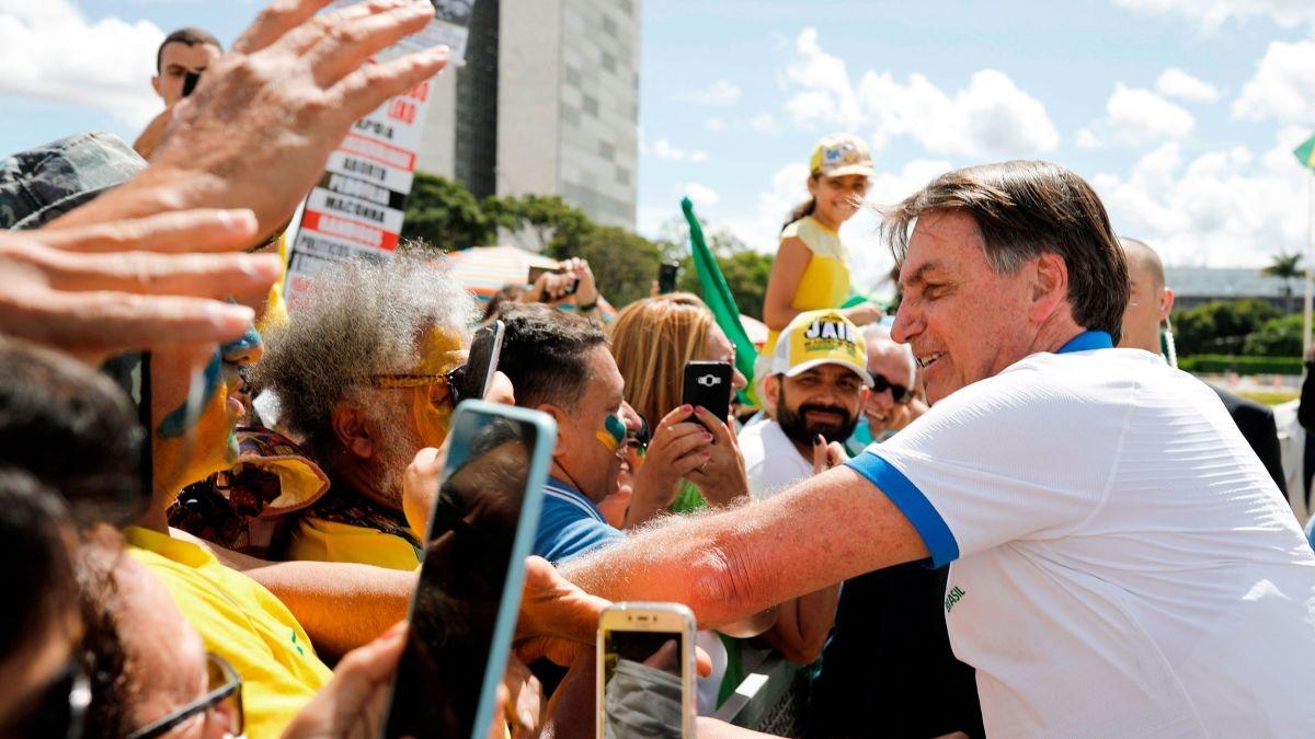 Brazil coronavirus protesters urge 'Bolsonaro out'