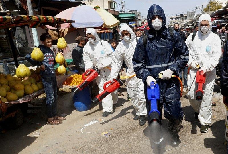 Palestinians report 1st cases of coronavirus in Gaza Strip