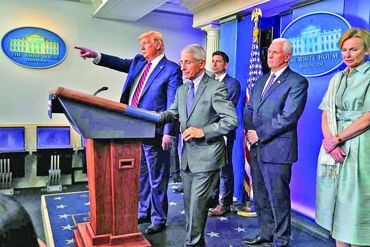 Congress toils on $1 trillion rescue, Trump unleashes fury