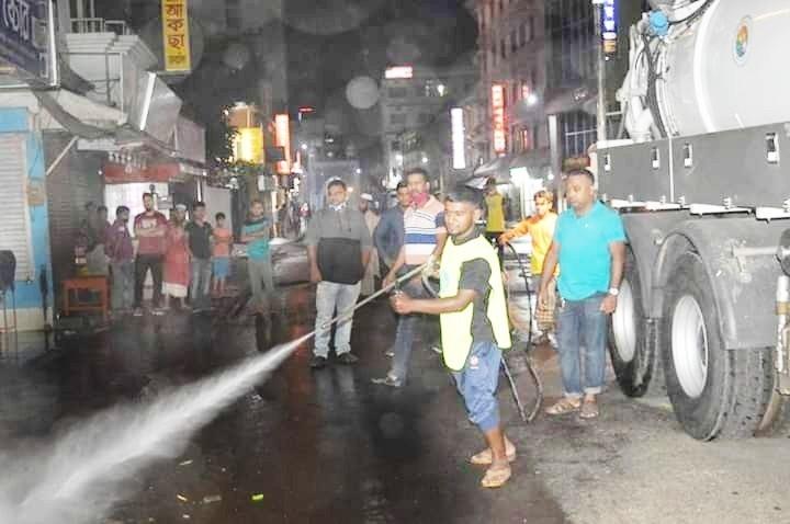 Coronavirus: SCC sprays anti-bacterial medicine on city roads