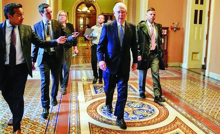US senators look to quickly pass massive coronavirus bill