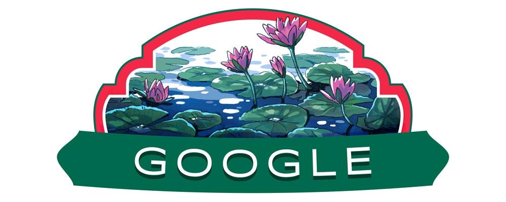 Google doodle celebrating Bangladesh's Independence Day
