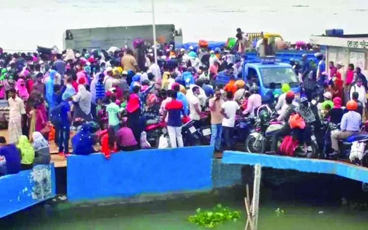 Eid exodus from Dhaka begins before coronavirus travel ban