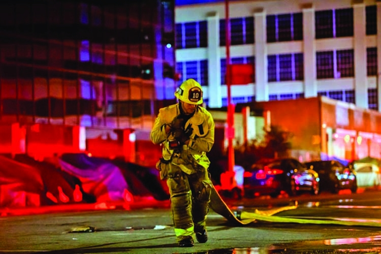 11 firefighters injured in Los Angeles battling blaze