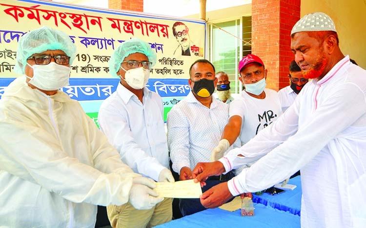 Sick laborers, children get helps in Bogura
