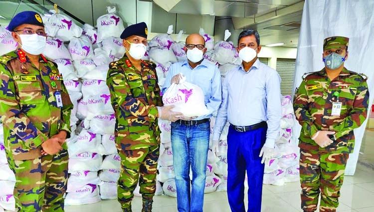 bKash provides food aid worth 35 lakh