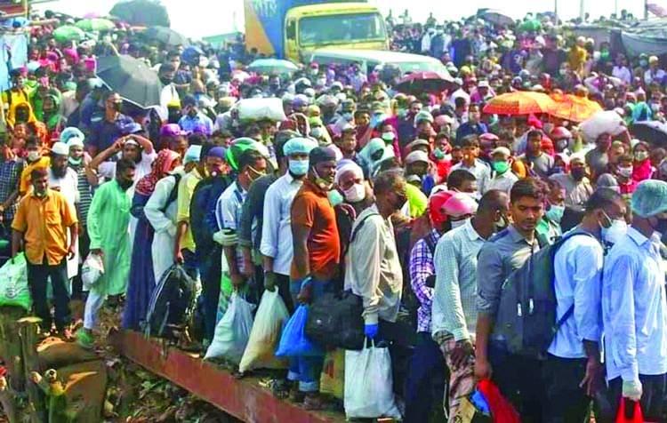 Ferry service at Paturia Daulatdia ghat suspended