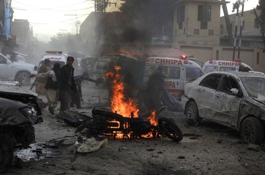 Bomb kills six, wounds four in southwest Pakistan