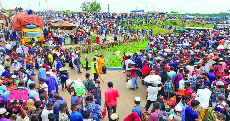Mass exodus from Dhaka raises corona concerns