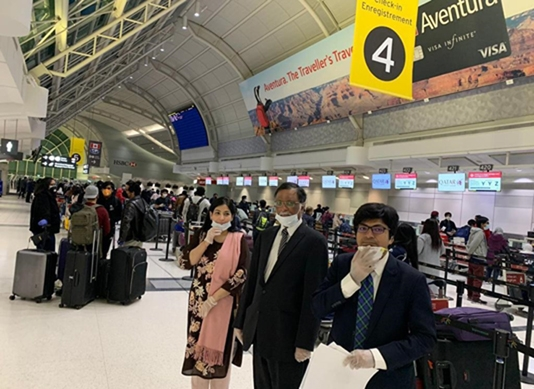 195 stranded Bangladeshis depart Canada for home