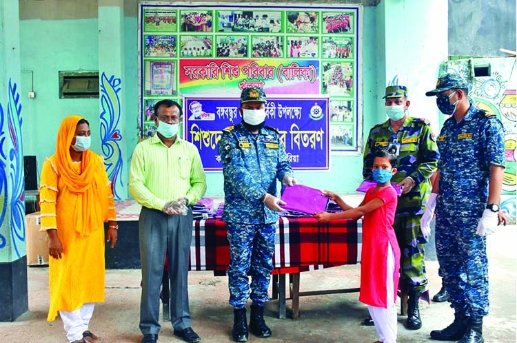 Navy provides Eid gifts among orphans