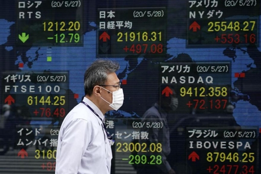 Asian markets extend gains on hopes virus crisis is easing