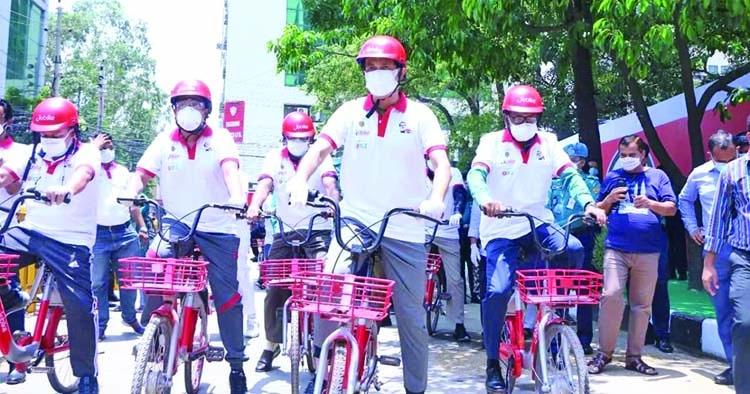 Atiqul launches bicycle rental service 'Jobike'