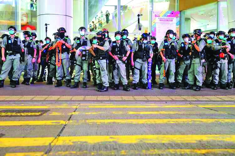 Hong Kong police refuse permission for march