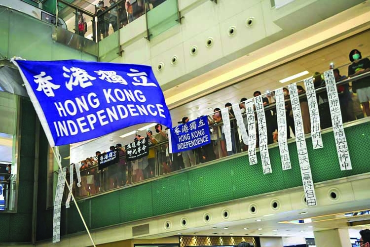 Hong Kongers march in silent protest
