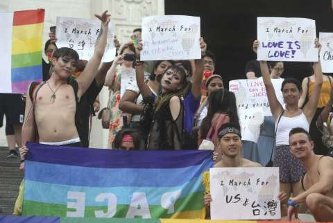 Taiwan stages pride parade 'for the world'