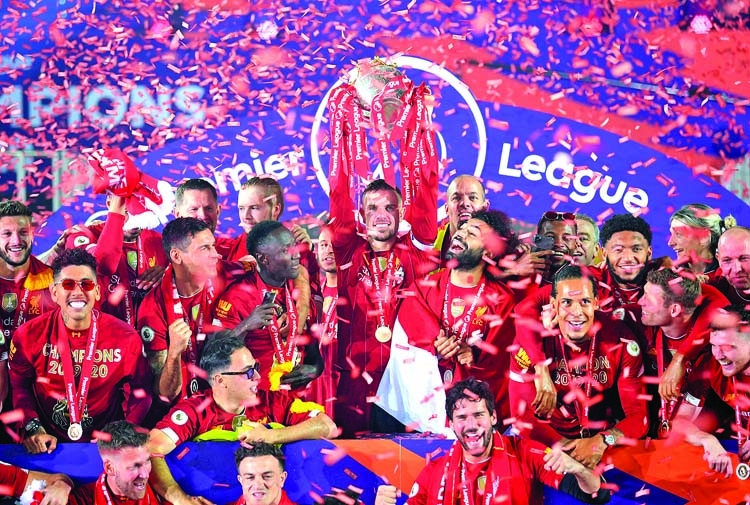 Reds celebrate long-awaited title in front of empty Kop