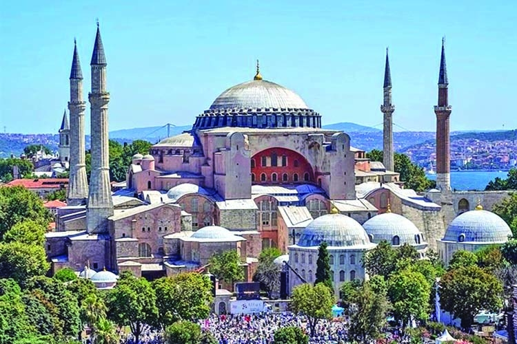 Hagia Sophia holds first Friday prayers