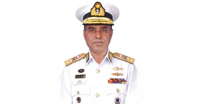 New Navy chief adorned with rank badge
