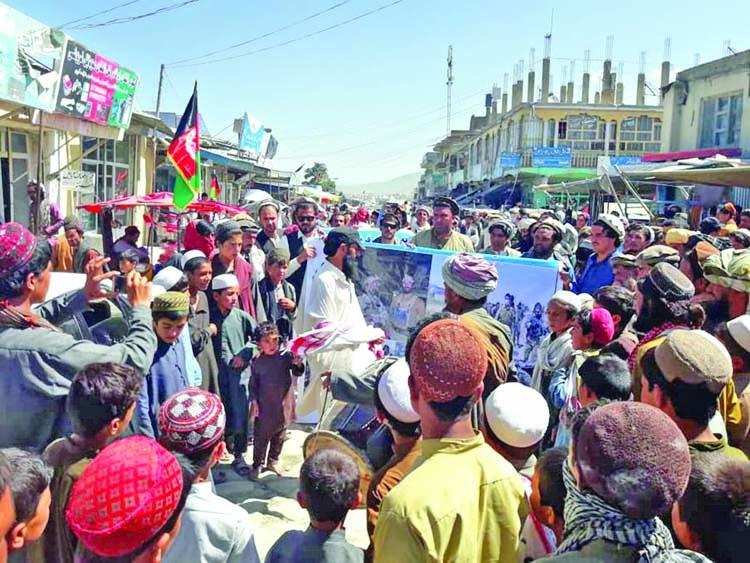 Pashtuns demonstrate against Pakistani atrocities