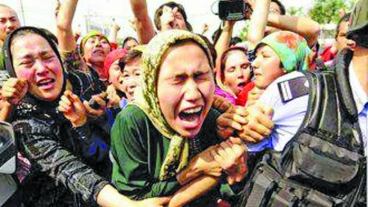 There is no protest against the Muslim genocide in China