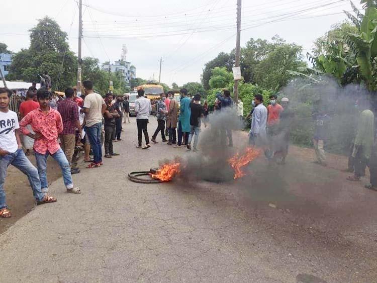 Highway blocked over BCL leader's arrest