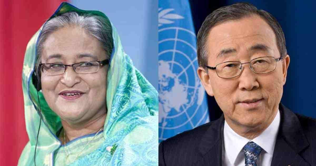 Ban Ki-moon calls up Hasina, says next CVF conf in Dhaka