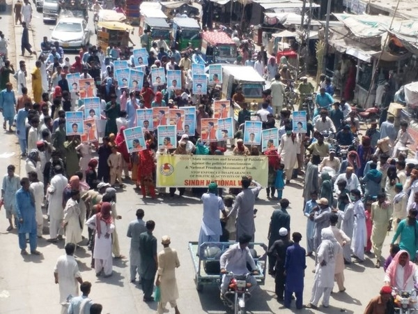 People in Sindh hold protest against state terrorism, demand release of political activists