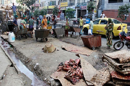 All wastes of sacrificial animals removed from city