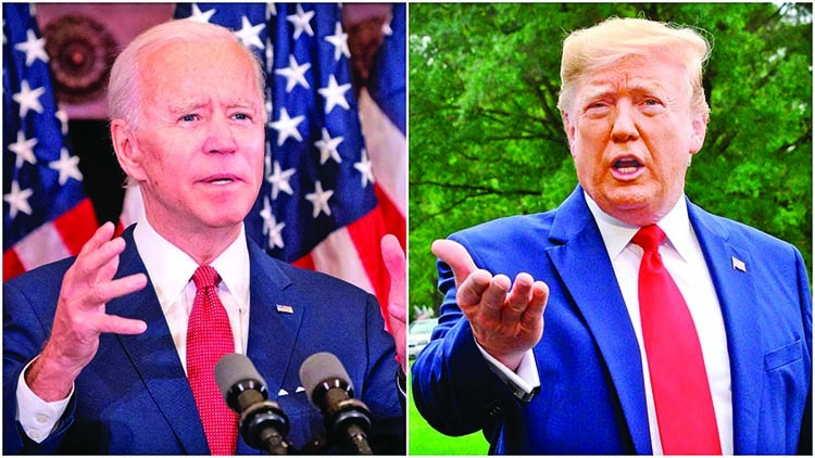 Trump, Biden return to campaign trail