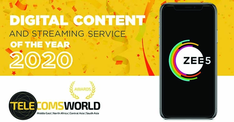 ZEE5 wins 'Digital Content and Streaming Service of the Year' award