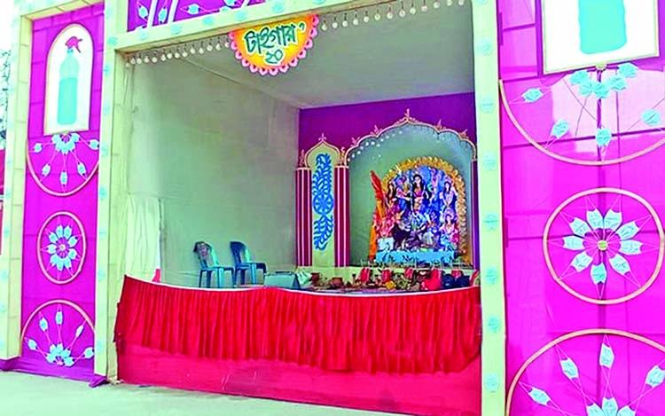 Virus-themed Durga Puja celebrations