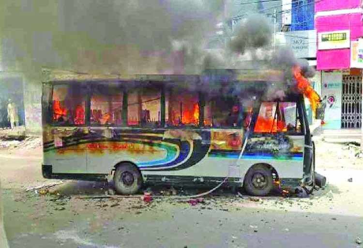 Arson attacks on buses: 3 held in city