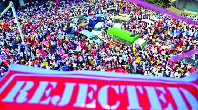 Huge anti-coup rallies in Myanmar after junta threat