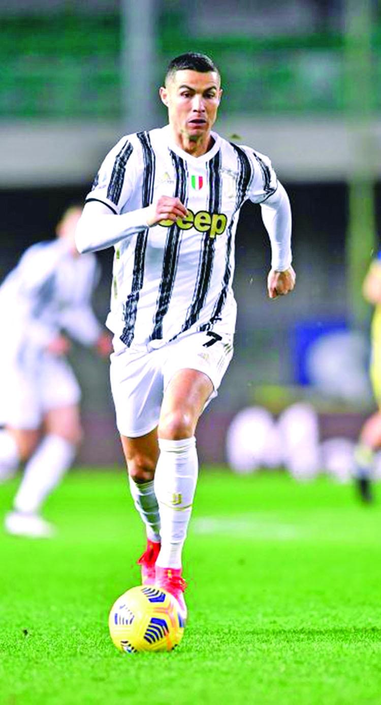 Ronaldo scores as Juventus held in Verona