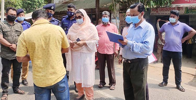 Mobile court conducted in Kaptai to ensure health rules