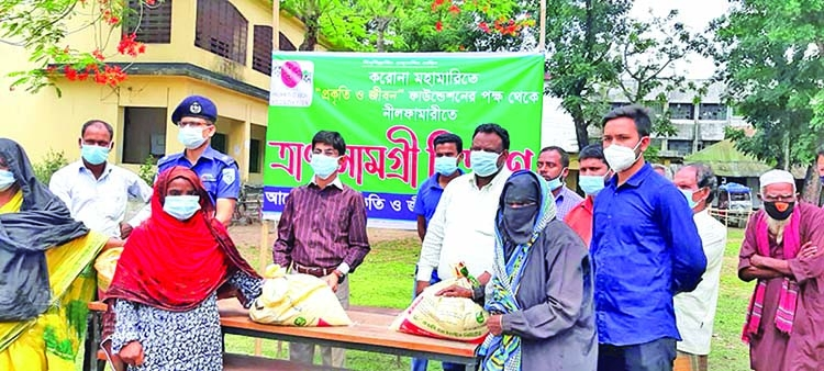 Food items distributed in Nilphamari