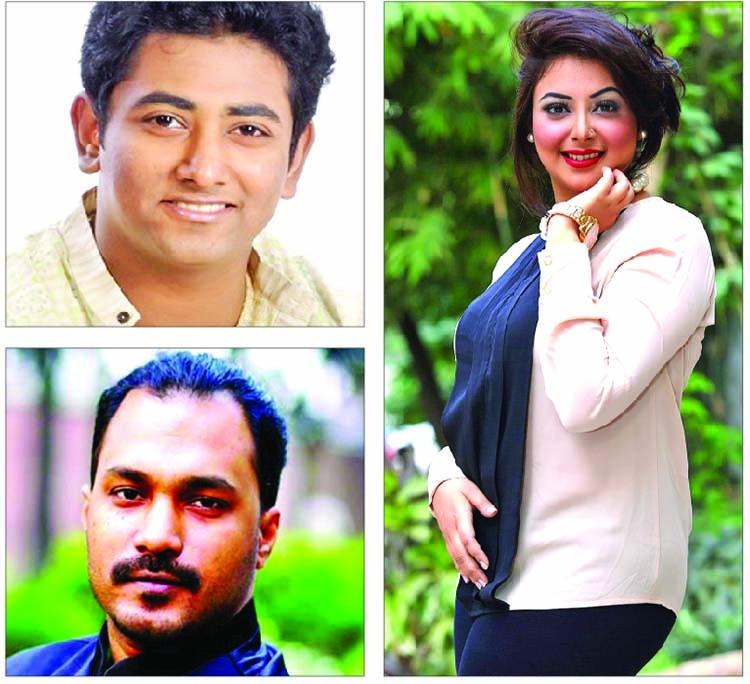 Artists commemorating Subir Nandy